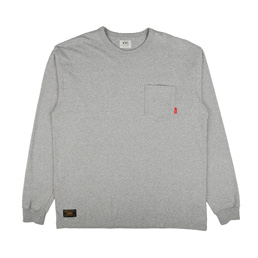 WTAPS Design LS Loopwheel T-Shirt Grey
