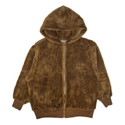 WTAPS Grizzly Hooded Sweatshirt Brown