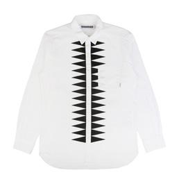 NBHD Design-2 LS Shirt White