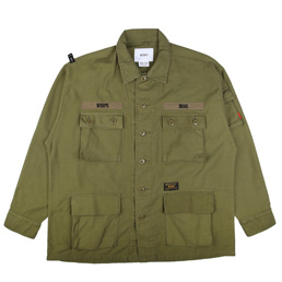 WTAPS Jungle L/S Shirt Olive Drab