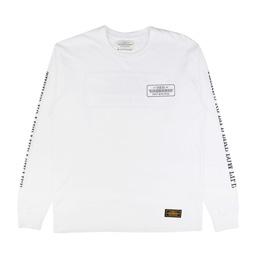 NBHD Bar&Shield LS T-Shirt White