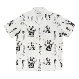 "Wacko Maria ""Lee Perry"" S/S Hawaiian Shirt White"
