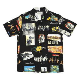 Wacko Maria Kingston Jamaica S/S Hawaiian Shirt Bl