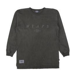 WTAPS Design LS System Loopwheel T-Shirt Black