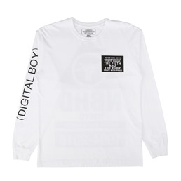NBHD Digital LS C-T-Shirt White