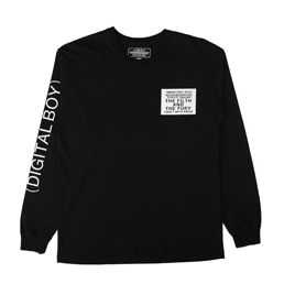 NBHD Digital LS C-T-Shirt Black