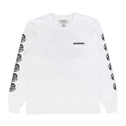 NBHD Em L/S T-Shirt White/ Black