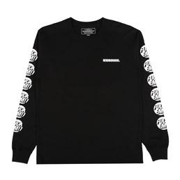 NBHD Em L/S T-Shirt Black/ White