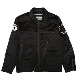NBHD Satin Jacket Black