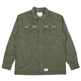 WTAPS Buds LS 02 Shirt Olive Drab