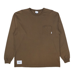 WTAPS Blank L/S 01 T-Shirt Charcoal