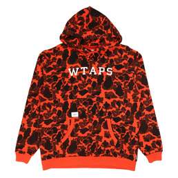 WTAPS Design Hooded College Sweatshirt Orange