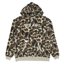 WTAPS Design Hooded College Sweatshirt Olive