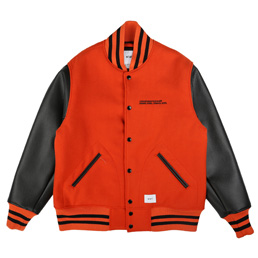 WTAPS Club Melton Jacket Orange