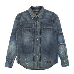 NH Savage Western LS Shirt Inidgo