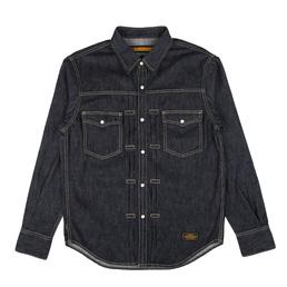 NH Western LS Shirt Indigo