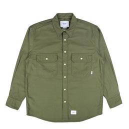 WTAPS CPO Moleskin Shirt Olive Drab
