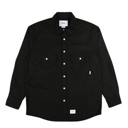 WTAPS CPO Moleskin Shirt Black