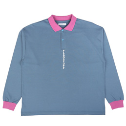 Flagstuff L/S Polo Shirt Blue/ Purple