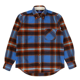 Supply Woolrich BD Shirt - Blue / Orange