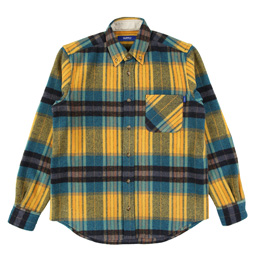 Supply Woolrich BD Shirt - Yellow / Teal