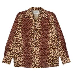 Wacko Maria Leopard Corduroy Shirt Beige