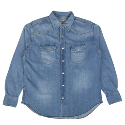 Wacko Maria Denim Western Shirt Washed