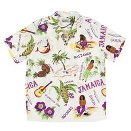 Wacko Maria Jamaica S/S Hawaiian Shirt - White
