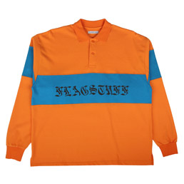 Flagstuff L/S Polo Shirt Orange/ Blue