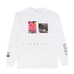 Flagstuff Flower L/S T-Shirt White