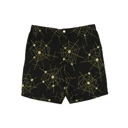 Wacko Maria Atomic Spider Hawaiian Shorts Black
