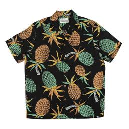 Wacko Maria Pineapple S/S Hawaiian Shirt Black