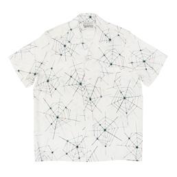 Wacko Maria Atomic Spider S/S Hawaiian Shirt White