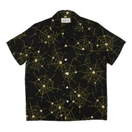 Wacko Maria Atomic Spider S/S Hawaiian Shirt Black