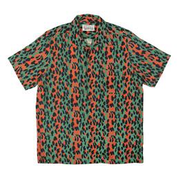 Wacko Maria Leopard S/S Hawaiian Shirt Green