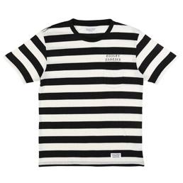 Wacko Maria Striped T-Shirt White/ Black