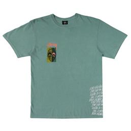 Stussy Masks Pig.Dye T-Shirt - Sage