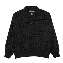 NH Flock Pull LS Shirt Black