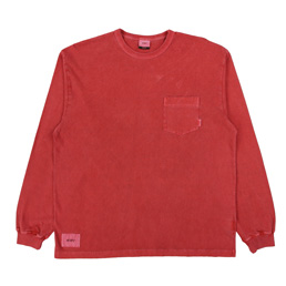 WTAPS Blank LS 02 T-Shirt Red