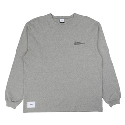 WTAPS Spec Design LS 01 T-Shirt Grey