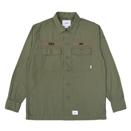 Wtaps Buds LS Shirt. Cotton Ripstop - Olive