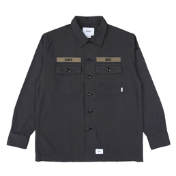 Wtaps Buds LS Shirt. Cotton Ripstop - Black