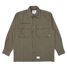 Wtaps Seagull LS Shirt. Nyco Ripstop - Olive Drab
