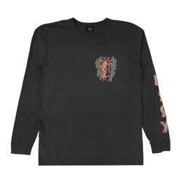 Stussy Fire Mask Pig.Dyed LS T-shirt - Black