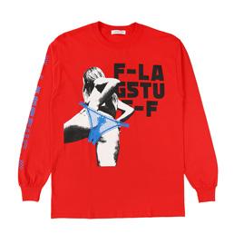Flagstuff Back LS T-Shirt Red