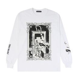 "Delivery Hells ""Hanging"" LS Tee - White"