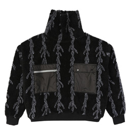 Flagstuff Mock Neck Fleece- Black