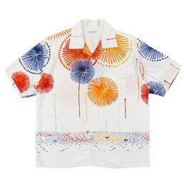 Flagstuff Hanabi S/S Hawaiian Shirt White