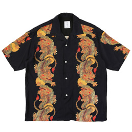 Flagstuff S/S Hawaiian Suiko Shirt Black