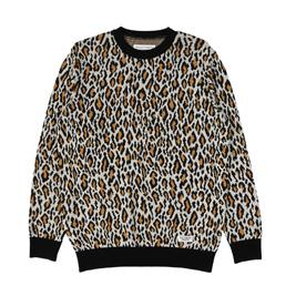 Wacko Maria Leopard Jacquard Sweater White